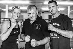 Grealish Boxing Club Family members, Nicola, Gerry and Martin Grealish