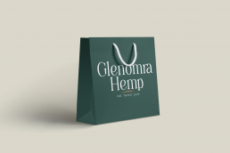 Glenomra Hemp branded shopping bag