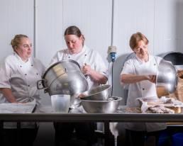 Ballyhar Foods pastry chefs working in kitchen
