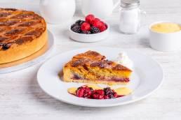 slice of bakewell tart dessert