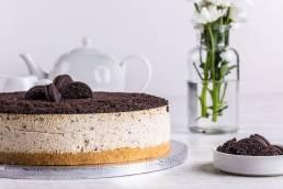 oreo cheesecake on table