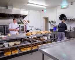Ballyhar Foods dessert chefs working in kitchen in with Apple Pies