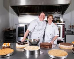Ballyhar Foods female pastry chefs in kitchen